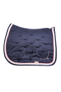 Marta Morgan Cotton Swarovski Saddle Blanket (Navy Cotton Pink)