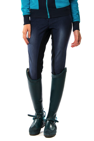Onira Suede Full Seat Breeches (Denim)