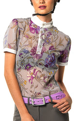 P-Margot Polo Competition Shirt (Floral Print)