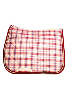 Marta Morgan Cotton Saddle Blanket (Pink Tartan Cotton)
