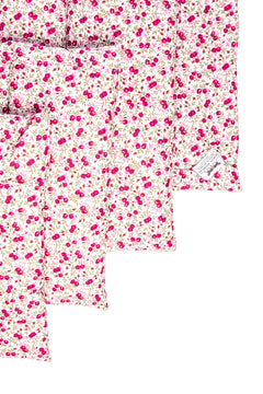 Marta Morgan Stable / Travel Bandage Pads (Pink Floral Cotton)