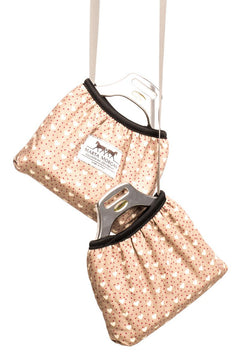 Marta Morgan Stirrup Cover (Beige with a Heart Print)