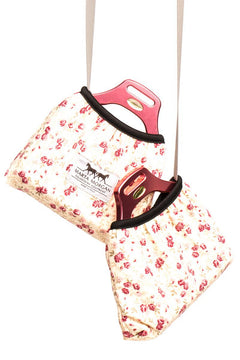 Marta Morgan Stirrup Cover (Beige with a Pink Floral Print)