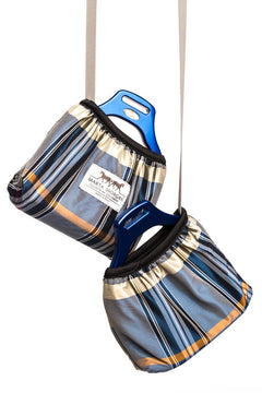 Marta Morgan Stirrup Cover (Blue with Beige Tartan)
