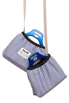 Marta Morgan Stirrup Cover (Blue Check)