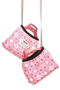 Marta Morgan Stirrup Cover (Hot Pink in a Floral Print)