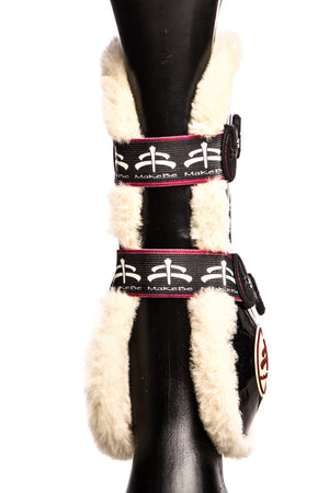 Temple Front Tendon Boots (Black/Sheepskin)
