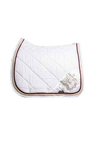 Image of the custom riding boot: Marta Morgan Cotton Swarovski Saddle Blanket (White Cotton Swarkovski)