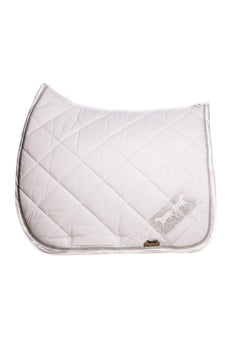 Marta Morgan Cotton Swarovski Saddle Blanket (White Cotton Swarkovski Band)