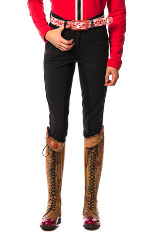 Image of the custom riding boot: Woody Suede Seat Breeches (Black Night)