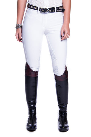 Image of the custom riding boot: B-Margot Competition Breeches (White)