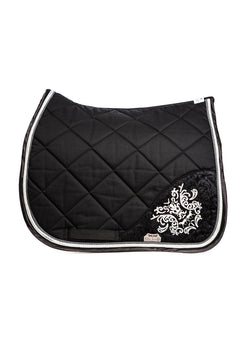 Marta Morgan Cotton Swarovski Saddle Blanket (Black Cotton with Swarovski Detail)