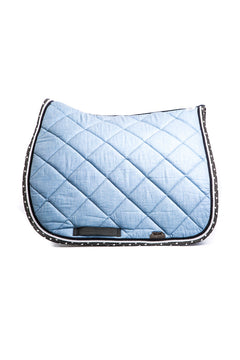Marta Morgan Cotton Saddle Blanket (Baby Blue Cotton with Love Heart Trim)