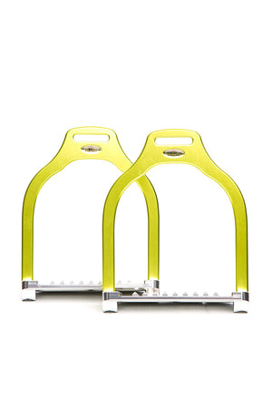 Steffa Wave Jump Stirrup (Lime)