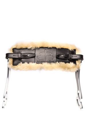 Wave Hackamore Leather (Black / Sheepskin)