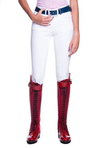 Image of the custom riding boot: B-Oliver Competition Breeches (White)
