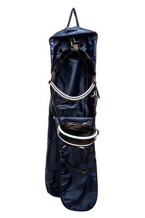 Marta Morgan Bridle Bag (Blue with a Blue Tartan Trim)
