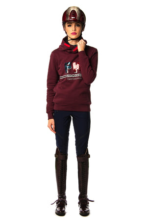 Jill Hooded Sweat (Burgundy)