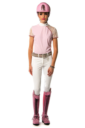 Naomi Polo Competition Shirt (Pale Pink)
