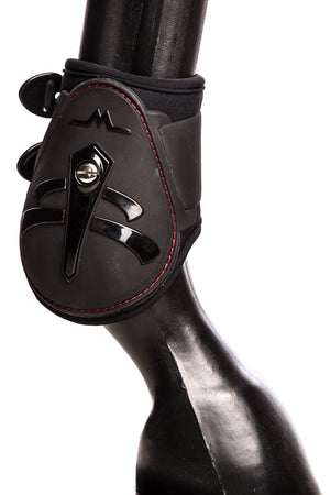 Temple Fetlock Boots Hind (Black Carbon Look)
