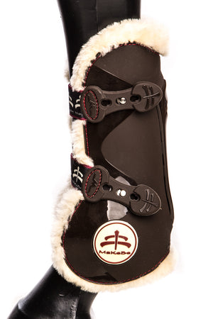 Temple Front Tendon Boots (Brown/Sheepskin)