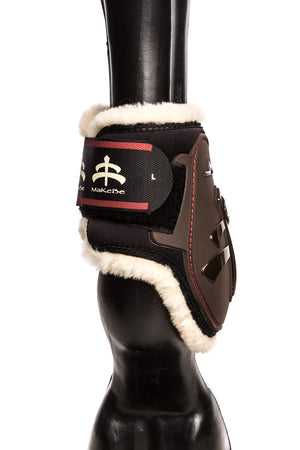 Temple Fetlock Boots Hind (Brown/Sheepskin)