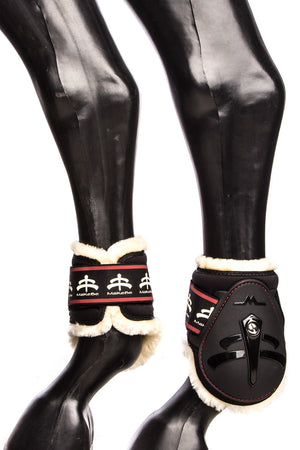 Temple Fetlock Young Horse Boots Hind (Black/Sheepskin)