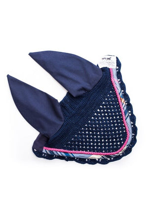 Marta Morgan Fly Ears (Navy with a Navy Tartan trim)