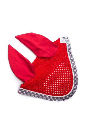 Marta Morgan Fly Ears (Red with a Red/Grey tartan trim)
