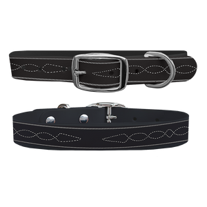 C4 Dog Collar (Black Stitches)