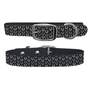 C4 Dog Collar (Black Horseshoes)