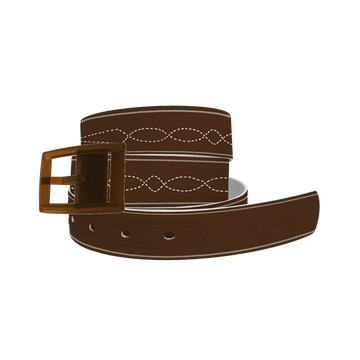 C4 Belt (Brown Stitches)