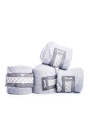 Marta Morgan Fleece Bandages (Grey Fleece with a Grey Check Trim)