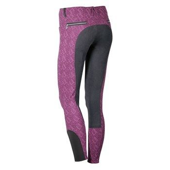 Harry's Horse Hustle Full Seat Breeches (Purple Floral)