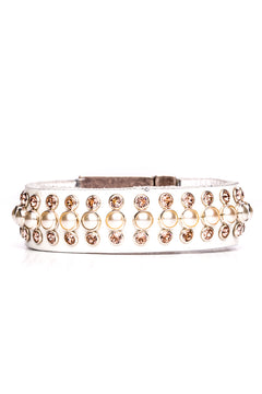 Bracelet Vienna Pearl (White Leather)