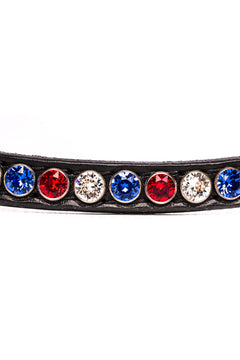 Browband Fame Classic Red/White/Blue