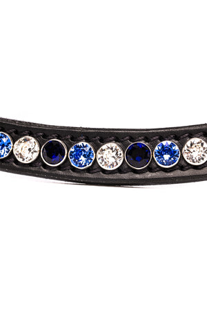 BROWBAND FAMOUS CLASSIC TRICOLORE BLUE