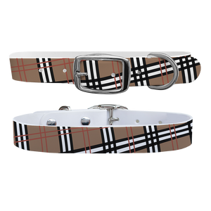 C4 Dog Collar (Khaki Plaid)