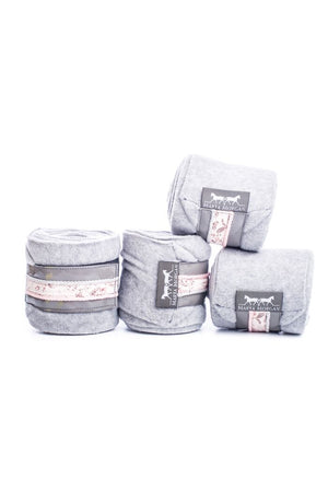Marta Morgan Fleece Bandages (Grey Fleece with a Floral Trim)