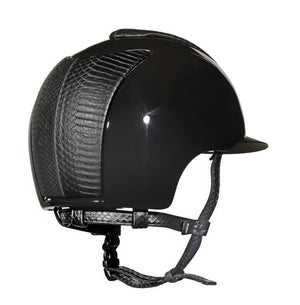Cromo Polish Black with Black Matte Snake Front/Back and Black Matte Snake Chinstrap