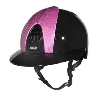 Cromo Polished Black with Pearl Empire Pink Snake and Polo Visor