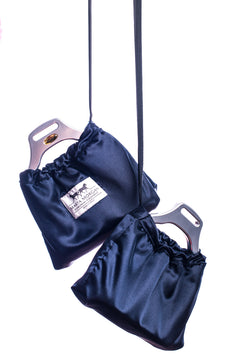 Marta Morgan Stirrup Covers (Navy Satin)