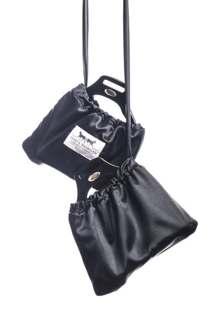 Marta Morgan Stirrup Covers (Black Satin)