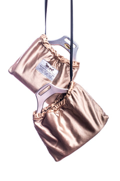 Marta Morgan Stirrup Covers (Gold Satin)