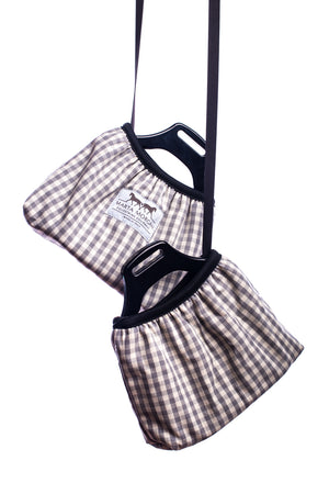 Marta Morgan Stirrup Covers (Grey Check)