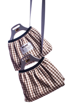 Marta Morgan Stirrup Covers (Brown Check)