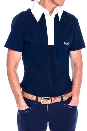 Lucy Polo Shirt (Navy Blue)