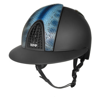 Cromo Textile Black with Blue Bamboo Snake Front/Back and Polo Peak