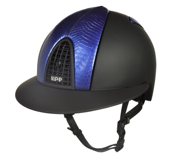 Cromo Textile Black with Pearl Empire Blue Snake Front/Back and Polo Peak