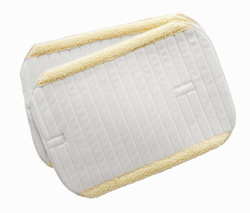 Bandage Pads with Faux Sheepskin Trim